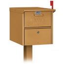 Salsbury Industries 4325D-BRS Designer Roadside Mailbox - Brass
