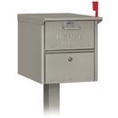Salsbury Industries 4325D-NIC Designer Roadside Mailbox - Nickel