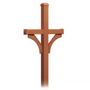 Salsbury Industries 4372D-COP Deluxe Post - 2 Sided - In-Ground Mounted - for Designer Roadside Mailboxes - Copper