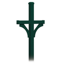Salsbury Industries 4372GRN Deluxe Post - 2 Sided - In-Ground Mounted - for Roadside Mailboxes - Green