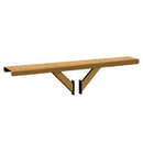 Salsbury Industries 4384D-BRS Spreader - 4 Wide with 2 Supporting Arms - for Designer Roadside Mailboxes - Brass