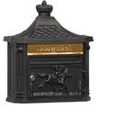 Salsbury Industries 4460BLK Victorian Mailbox - Surface Mounted - Black