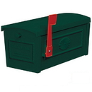 Salsbury Industries 4550GRN Townhouse Mailbox - Post Style - Green