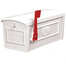 Salsbury Industries 4550WHT Townhouse Mailbox - Post Style - White