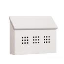 Salsbury Industries 4615WHT Traditional Mailbox - Decorative - Horizontal Style - White