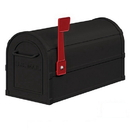 Salsbury Industries 4850BLK Heavy Duty Rural Mailbox - Black
