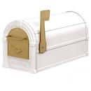Salsbury Industries 4855E-WHG Eagle Rural Mailbox - White - Gold Eagle