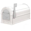Salsbury Industries 4855E-WHS Eagle Rural Mailbox - White - Silver Eagle