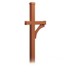 Salsbury Industries 4870COP Deluxe Mailbox Post - 1 Sided - In-Ground Mounted - Copper