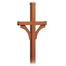 Salsbury Industries 4872COP Deluxe Mailbox Post - 2 Sided for (2) Mailboxes - In-Ground Mounted - Copper