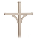 Salsbury Industries 4874BGE Deluxe Mailbox Post - 2 Sided for (4) Mailboxes - In-Ground Mounted - Beige