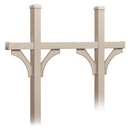 Salsbury Industries 4875BGE Deluxe Mailbox Post - Bridge Style for (5) Mailboxes - In-Ground Mounted - Beige