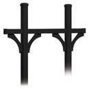 Salsbury Industries 4875BLK Deluxe Mailbox Post - Bridge Style for (5) Mailboxes - In-Ground Mounted - Black