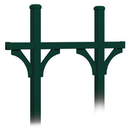 Salsbury Industries 4875GRN Deluxe Mailbox Post - Bridge Style for (5) Mailboxes - In-Ground Mounted - Green