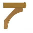 Salsbury Industries 4877BRS Arm Kit - Replacement for Deluxe Post for (1) Mailbox - Brass