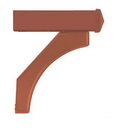 Salsbury Industries 4877COP Arm Kit - Replacement for Deluxe Post for (1) Mailbox - Copper