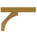 Salsbury Industries 4878BRS Arm Kit - Replacement for Deluxe Post for (2) Mailboxes - Brass