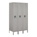 Salsbury Industries 61358GY-U Standard Metal Locker - Single Tier - 3 Wide - 5 Feet High - 18 Inches Deep - Gray - Unassembled