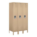 Salsbury Industries 61358TN-U Standard Metal Locker - Single Tier - 3 Wide - 5 Feet High - 18 Inches Deep - Tan - Unassembled
