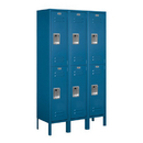 Salsbury Industries 62352BL-A Standard Metal Locker - Double Tier - 3 Wide - 5 Feet High - 12 Inches Deep - Blue - Assembled