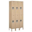 Salsbury Industries 62362TN-U Standard Metal Locker - Double Tier - 3 Wide - 6 Feet High - 12 Inches Deep - Tan - Unassembled
