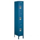 Salsbury Industries 63168BL-A Standard Metal Locker - Triple Tier - 1 Wide - 6 Feet High - 18 Inches Deep - Blue - Assembled