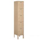 Salsbury Industries 65152TN-U Standard Metal Locker - Five Tier Box Style - 1 Wide - 5 Feet High - 12 Inches Deep - Tan - Unassembled
