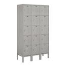 Salsbury Industries 65352GY-U Standard Metal Locker - Five Tier Box Style - 3 Wide - 5 Feet High - 12 Inches Deep - Gray - Unassembled