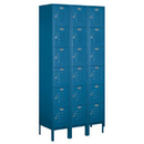 Salsbury Industries 66365BL-U Standard Metal Locker - Six Tier Box Style - 3 Wide - 6 Feet High - 15 Inches Deep - Blue - Unassembled