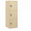 Salsbury Industries 7123TAN Welded Industrial Storage Cabinet - Three Doors - 72 Inches High - 24 Inches Deep - Tan