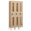 Salsbury Industries 71362TN-U Vented Metal Locker - Single Tier - 3 Wide - 6 Feet High - 12 Inches Deep - Tan - Unassembled