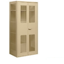 Salsbury Industries 7155TAN Military Combination Storage Cabinet - Tan