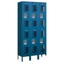 Salsbury Industries 72362BL-A Vented Metal Locker - Double Tier - 3 Wide - 6 Feet High - 12 Inches Deep - Blue - Assembled