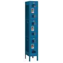 Salsbury Industries 73162BL-A Vented Metal Locker - Triple Tier - 1 Wide - 6 Feet High - 12 Inches Deep - Blue - Assembled
