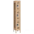 Salsbury Industries 73162TN-U Vented Metal Locker - Triple Tier - 1 Wide - 6 Feet High - 12 Inches Deep - Tan - Unassembled
