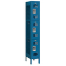 Salsbury Industries 73165BL-U Vented Metal Locker - Triple Tier - 1 Wide - 6 Feet High - 15 Inches Deep - Blue - Unassembled