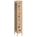 Salsbury Industries 73165TN-U Vented Metal Locker - Triple Tier - 1 Wide - 6 Feet High - 15 Inches Deep - Tan - Unassembled