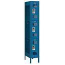 Salsbury Industries 73168BL-U Vented Metal Locker - Triple Tier - 1 Wide - 6 Feet High - 18 Inches Deep - Blue - Unassembled