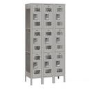Salsbury Industries 73362GY-U Vented Metal Locker - Triple Tier - 3 Wide - 6 Feet High - 12 Inches Deep - Gray - Unassembled