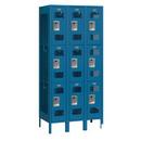 Salsbury Industries 73365BL-U Vented Metal Locker - Triple Tier - 3 Wide - 6 Feet High - 15 Inches Deep - Blue - Unassembled