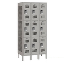 Salsbury Industries 73365GY-U Vented Metal Locker - Triple Tier - 3 Wide - 6 Feet High - 15 Inches Deep - Gray - Unassembled