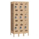 Salsbury Industries 73368TN-U Vented Metal Locker - Triple Tier - 3 Wide - 6 Feet High - 18 Inches Deep - Tan - Unassembled