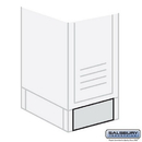 Salsbury Industries 77745GY Front Base - for 15 Inch Wide Metal Locker - Gray