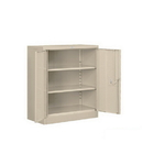 Salsbury Industries 8048TAN-U Heavy Duty Storage Cabinet - Counter Height - 42 Inches High - 18 Inches Deep - Tan - Unassembled