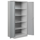 Salsbury Industries 8078GRY-A Heavy Duty Storage Cabinet - Standard - 78 Inches High - 18 Inches Deep - Gray - Assembled