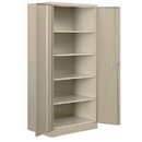 Salsbury Industries 8078TAN-A Heavy Duty Storage Cabinet - Standard - 78 Inches High - 18 Inches Deep - Tan - Assembled