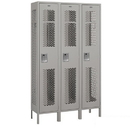 Salsbury Industries 81365GY-U Extra Wide Vented Metal Locker - Single Tier - 3 Wide - 6 Feet High - 15 Inches Deep - Gray - Unassembled