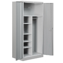 Salsbury Industries 8274GRY-U Heavy Duty Storage Cabinet - Combination - 78 Inches High - 24 Inches Deep - Gray - Unassembled