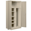 Salsbury Industries 8274TAN-A Heavy Duty Storage Cabinet - Combination - 78 Inches High - 24 Inches Deep - Tan - Assembled