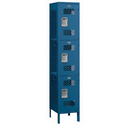 Salsbury Industries 83168BL-A Extra Wide Vented Metal Locker - Triple Tier - 1 Wide - 6 Feet High - 18 Inches Deep - Blue - Assembled